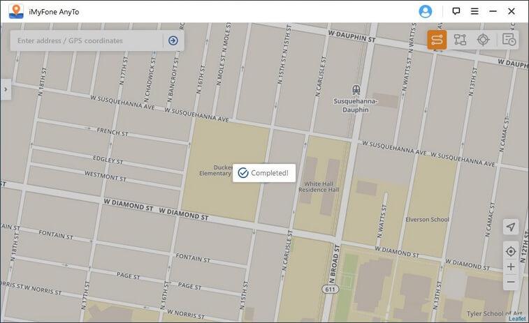 Changement de GPS sur la carte