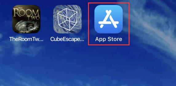 ouvrez l'app store