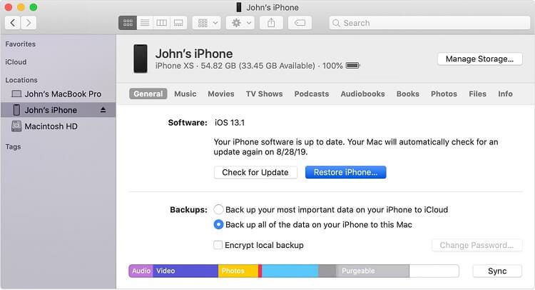 mettre à jour iOS 14 avec iTunes