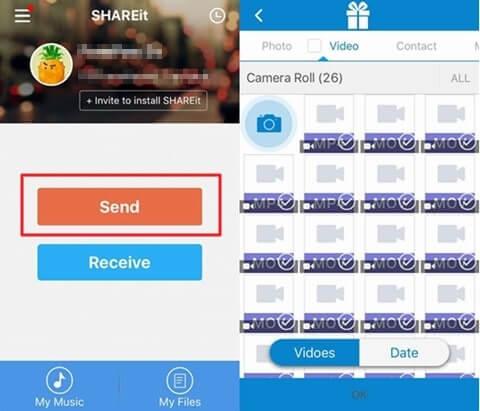transférer vos photos et vos vidéos avec shareit