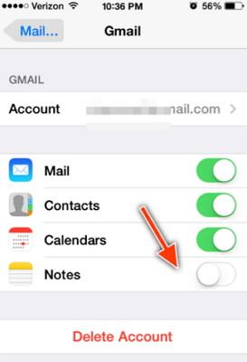 transferez vos notes du iphone vers votre compte gmail