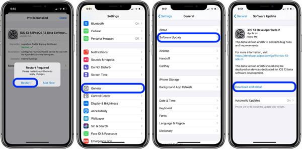 Mise à jour iOS bloquée sur