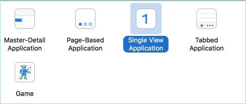 sélectionner Application à vue unique