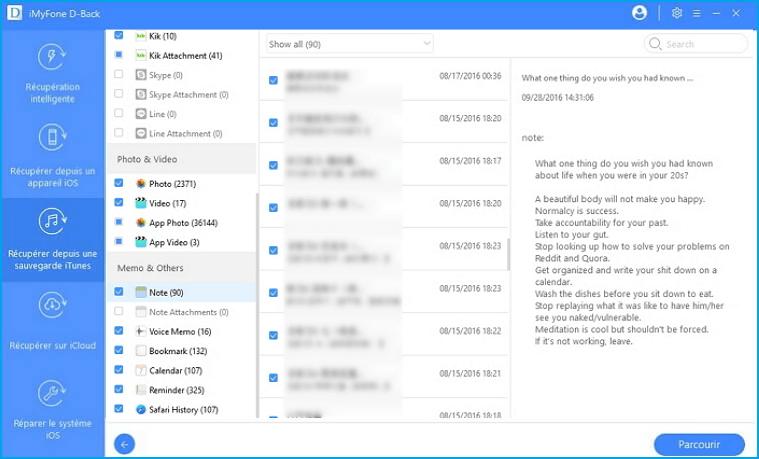 Récupérez les notes d'un iPhone endommagé via la sauvegarde iTunes