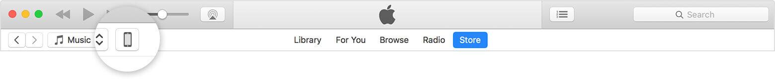 iPhone tab on iTunes