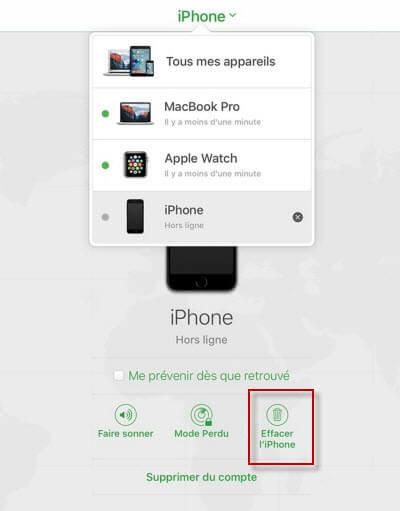 Effacer votre iPhone