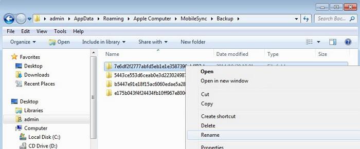 Windows itunes backups location