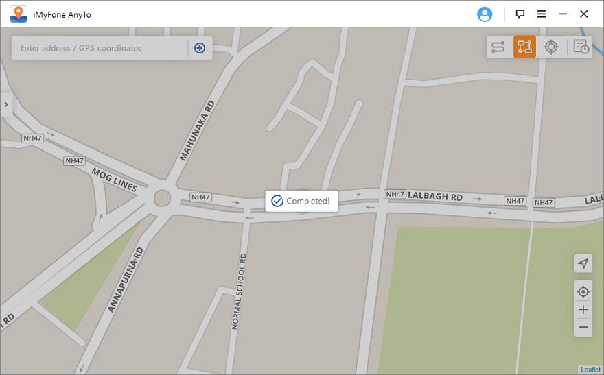 GPS location changed