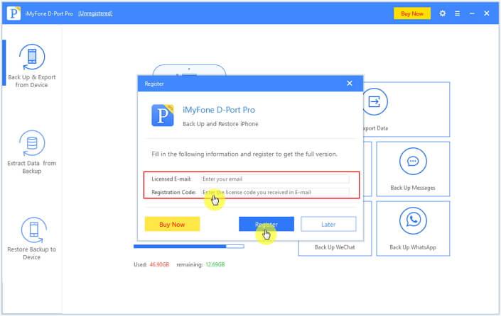 register iMyFone D-Port Pro 2