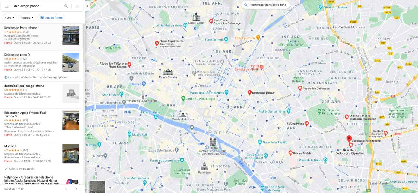 search-unlock-iphone-store-on-googlemaps