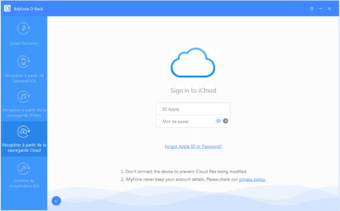 sign in to your iCloud account