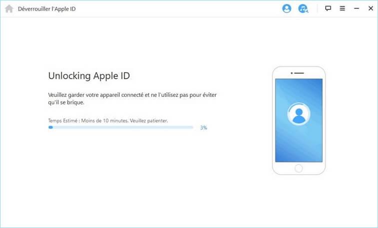 Déblocage de l'Apple ID