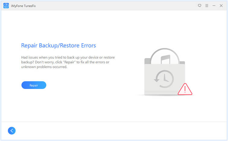 repair backup/restore errors