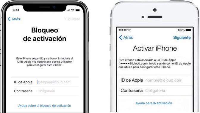bloqueo de activacion de iCloud