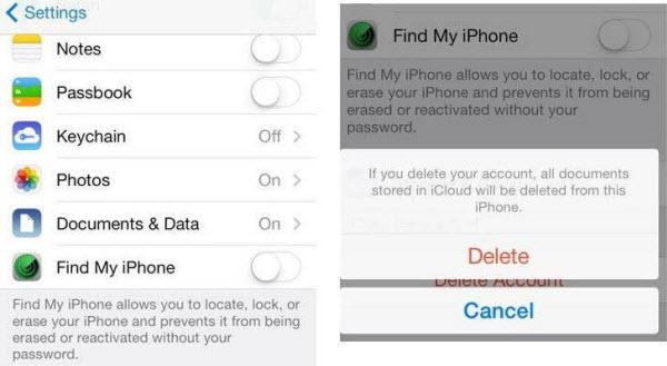 Eliminar la cuenta de iCloud