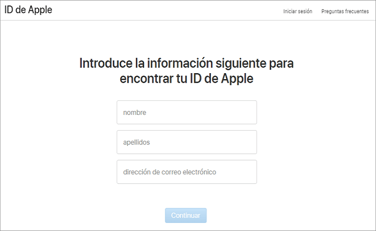 encontrar Apple ID
