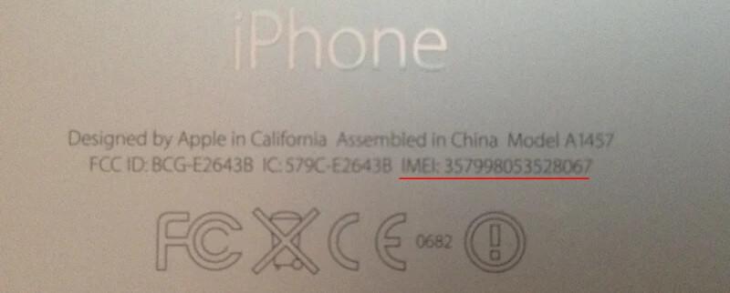 IMEI de iPhone