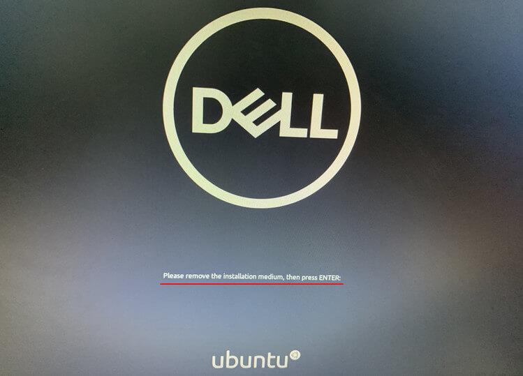 Eliminar el medio de instalación de Ubuntu