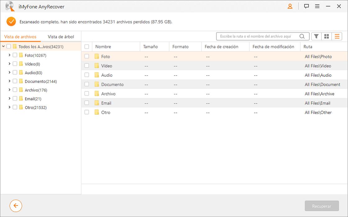 Recuperar los datos en el disco duro externo RAW