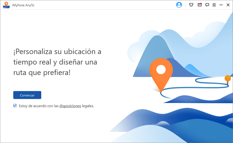 Iniciar la alternativa de Fly GPS