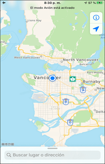 GOS location on iPhone changed