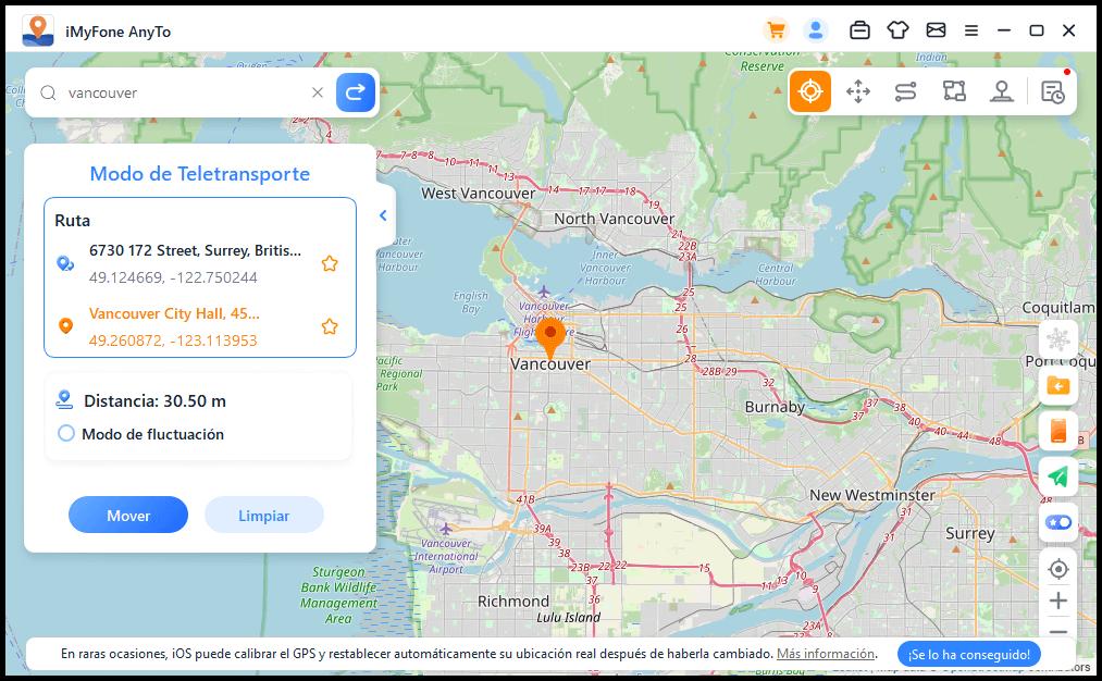 cambiar ubicación de mi iPhone