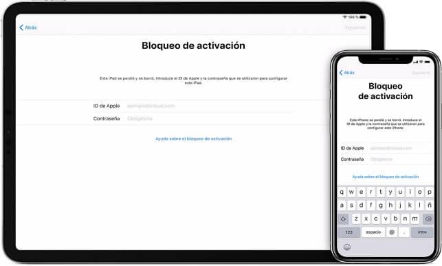 bloqueo de activacion iPad