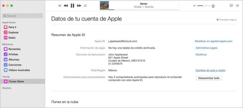 cambiar el pais de app store mediante iTunes