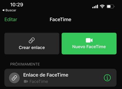 Invitar alguien a FaceTime