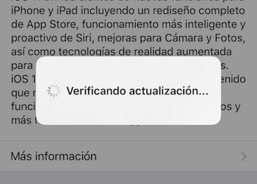 iPhone se queda en verificando actualización