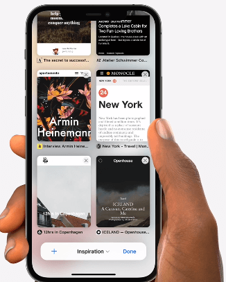 Grupos de pestañas en Safari iOS 15