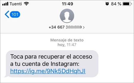 recuperar una cuenta de Instagram sin correo