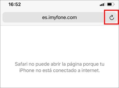 Actualizar la página web en Safari