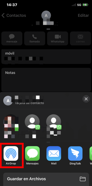 compartir contactos