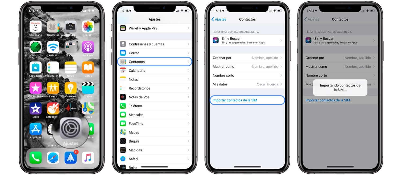 pasar contactos de iPhone a iPhone con la tarjeta SIM