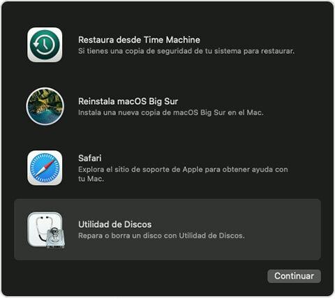abiri la utilidad de disco en Mac