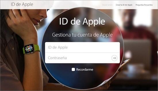 Iniciar sesión en tu cuenta de Apple