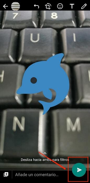 añadir emoji a la foto