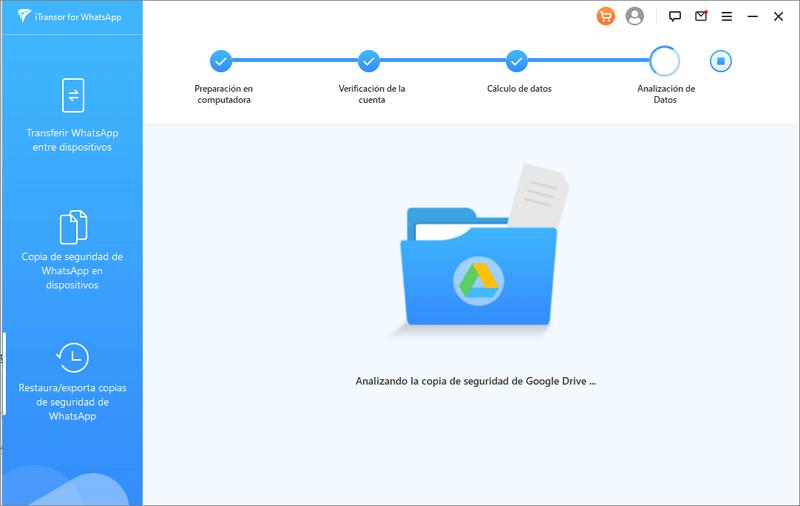 analizar la copia de seguridad de WhatsApp desde Google Drive
