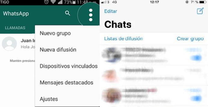 cambiar los ajustes de chats en Whatsapp