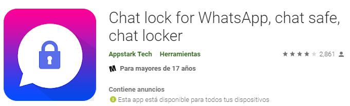 chatlock para WhatsApp
