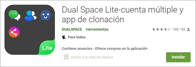 Dual Space Lite