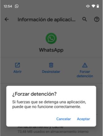 forzar la detención de Android