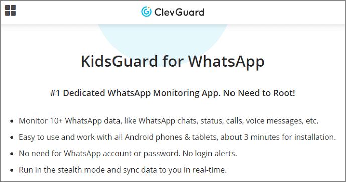 KidsGuard for WhatsApp