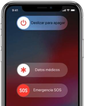reiniciar en la pantalla iPhone