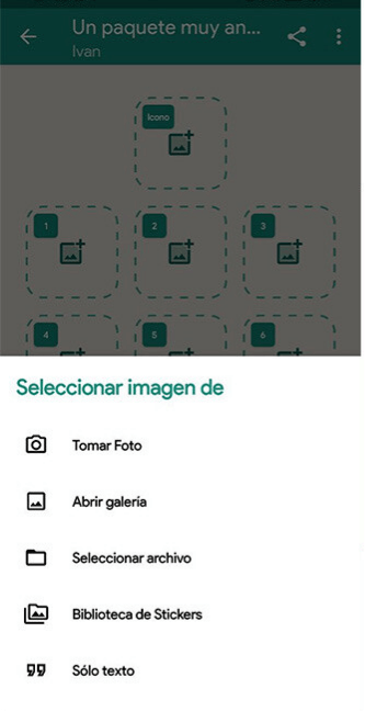 elegir una foto en Stickermaker