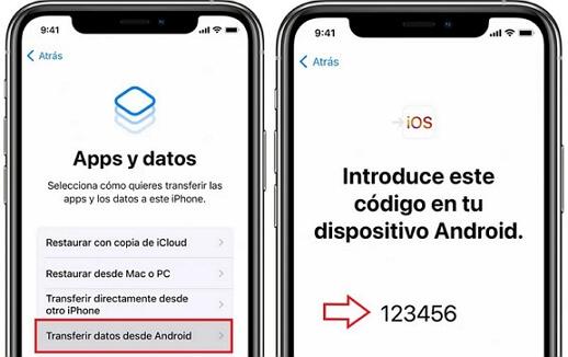 transferir contactos de android a iphone con move to ios