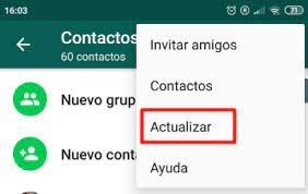 actualizar los contactos