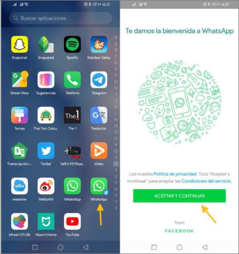 segunda cuenta de WahtsApp en tu móvil