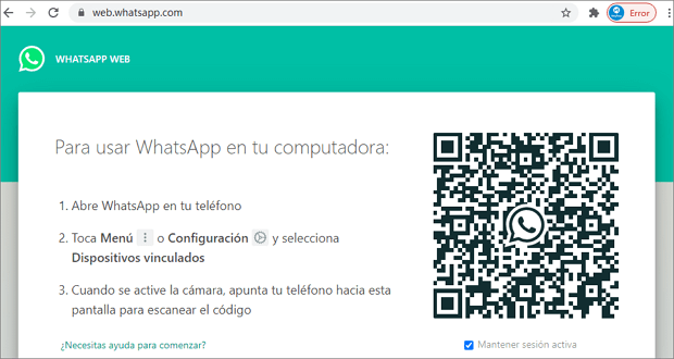 abrir whatsapp web en PC